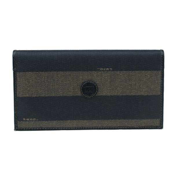 d1e2d97aa0 Fendi Black Striped Pequin Men Bifold Wallet