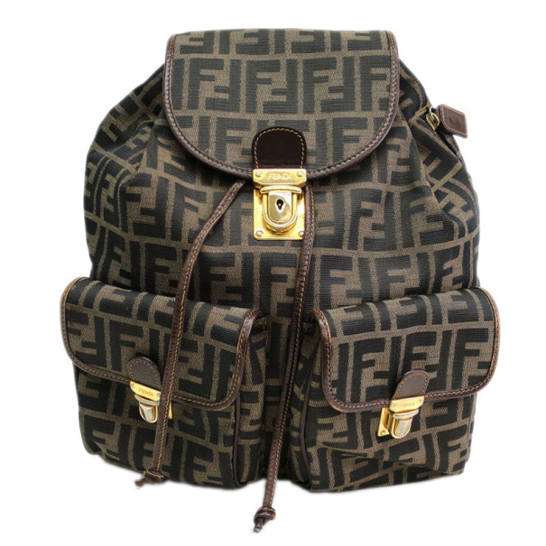 28e4f16622 ... Fendi Brown Tobacco Zucca Canvas Travel Backpack. nextprev. prevnext