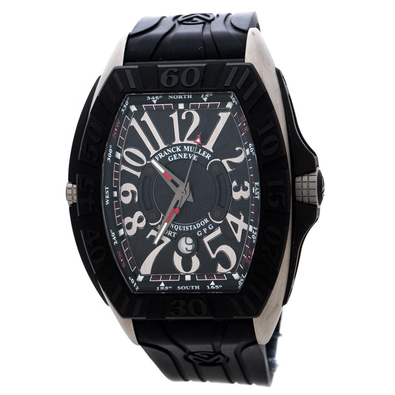 Franck Muller Black Titanium Stainless Steel Conquistador Grand Prix 9900  SC DT GPG Men's Wristwatch 48 mm