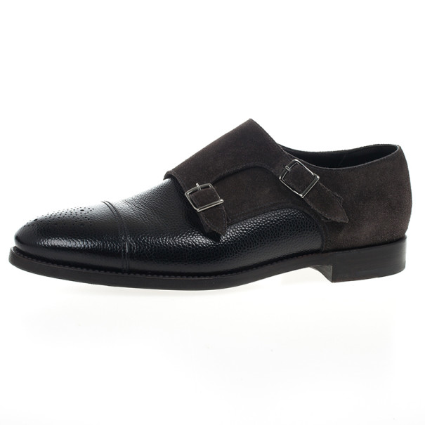 a17882c9c74f Buy Giorgio Armani Monkstrap Suede   Leather Shoes Size 43.5 20336 ...