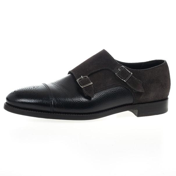 a17882c9c74f Buy Giorgio Armani Monkstrap Suede   Leather Shoes Size 43.5 20336 ...