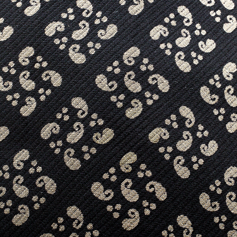 Giorgio Armani Cravatte Black Paisley Printed Silk Traditional Tie