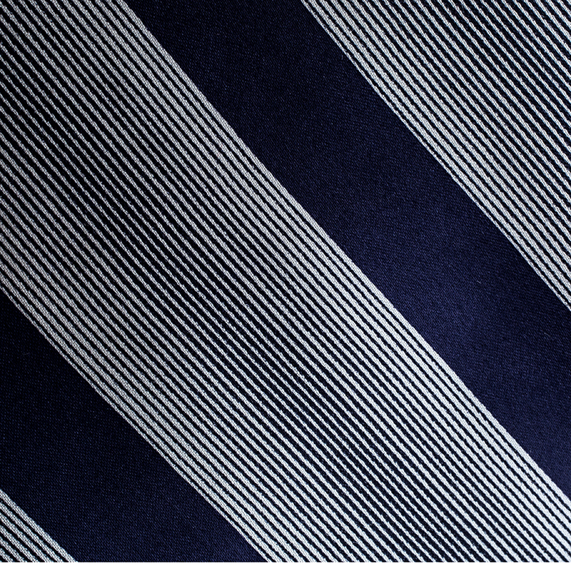 Giorgio Armani Navy Blue and Grey Diagonal Striped Traditional Silk Tie