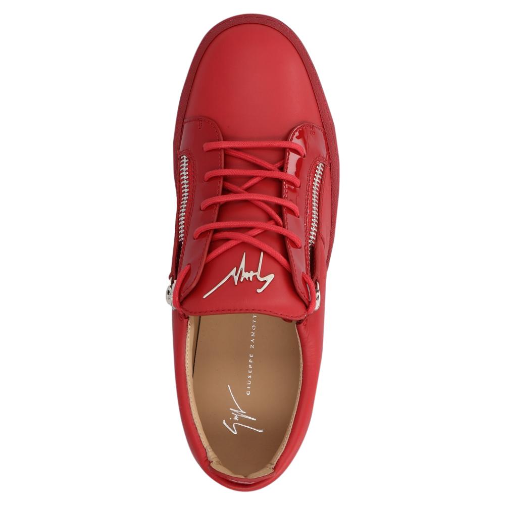 Giuseppe Zanotti Red Frankie Low Top Sneakers Size EU 45