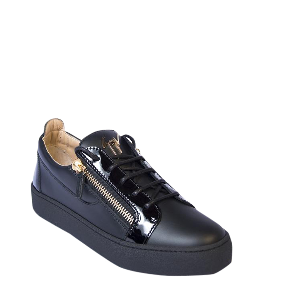 Giuseppe Zanotti Black Frankie Low Top Sneakers Size EU 41