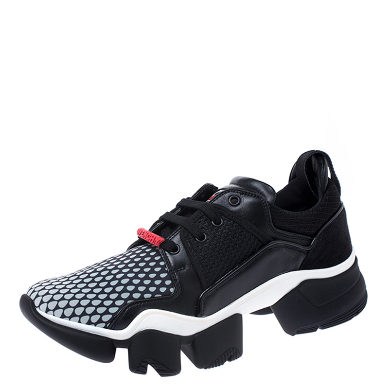 Givenchy Black Leather and Mesh Jaw Low