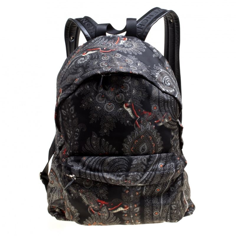 Купить со скидкой Givenchy Black Printed Nylon Backpack