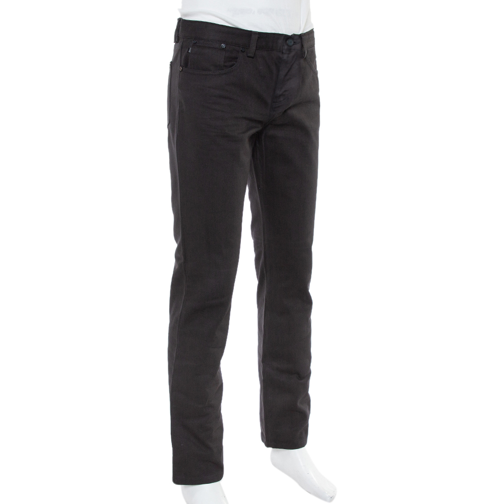 Givenchy Black Denim Straight Leg Jeans M  - buy with discount