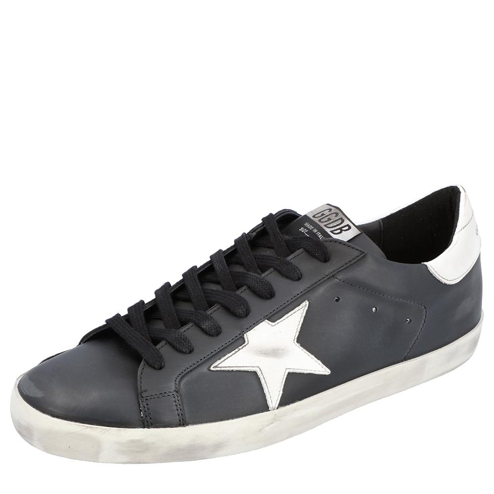 Golden Goose Black Superstar Classic Sneakers Size 43