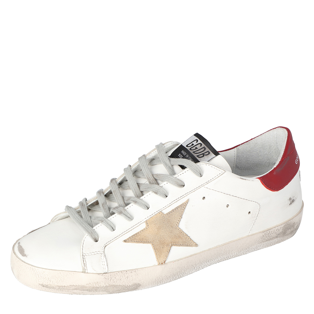 Golden Goose White Superstar Classic Sneakers Size 44