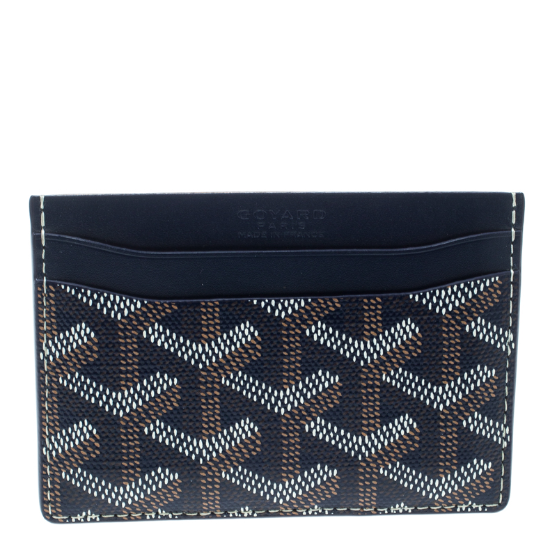 competitive price dfc53 3802d Goyard Blue Goyardine Coated Canvas Saint Sulpice Card Holder