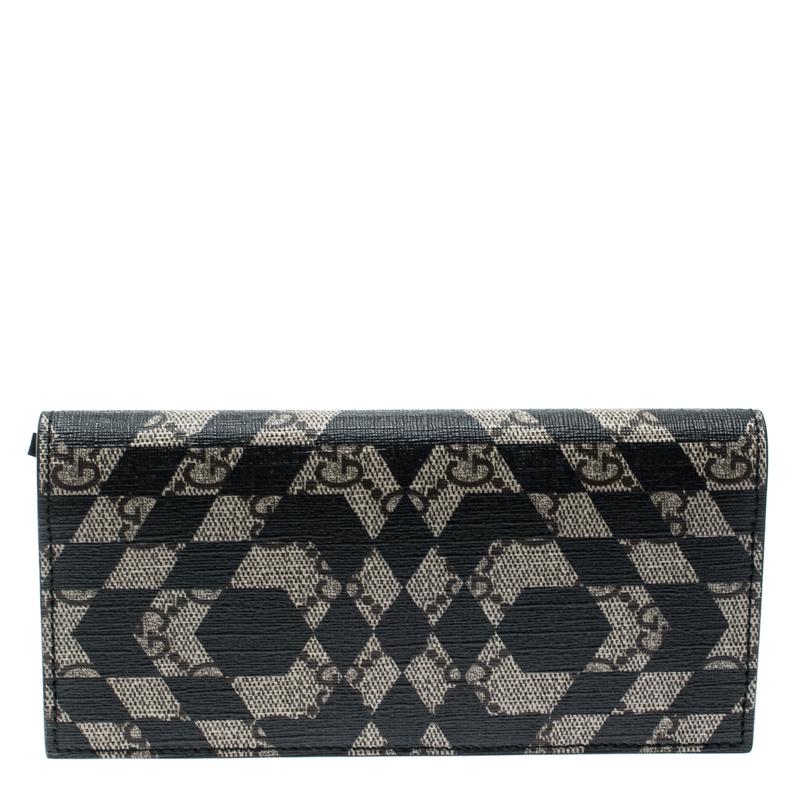 a92c0f33374f ... Gucci Beige/Black GG Supreme Canvas Bifold Continental Wallet.  nextprev. prevnext