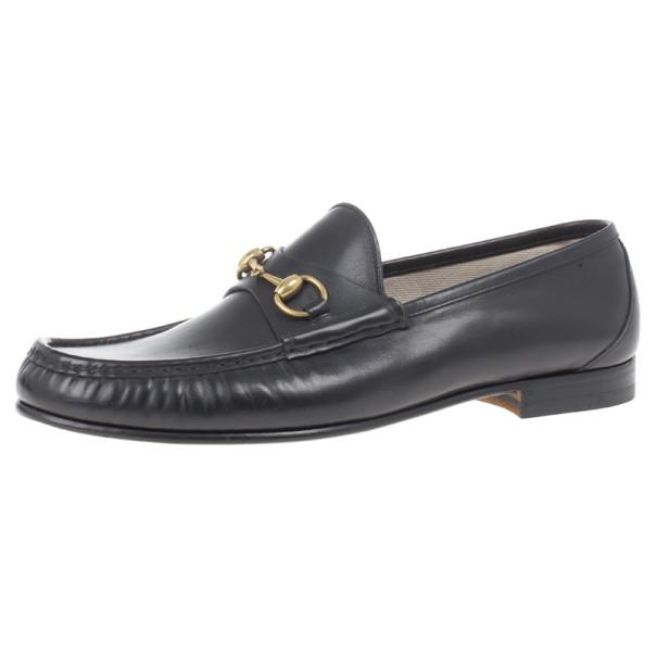 efafe7eaf ... Gucci Black Leather 1953 Horsebit Loafers Size 45.5. nextprev. prevnext