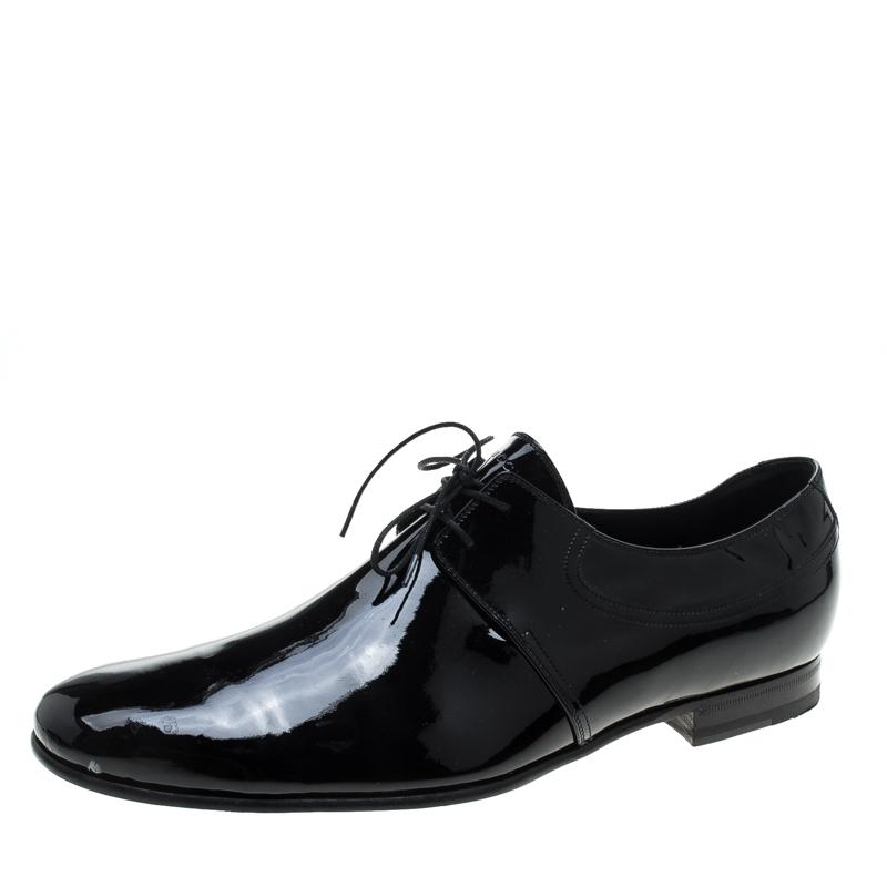 05dd717427 ... Gucci Black Patent Leather Lace Up Derby Size 45. nextprev. prevnext