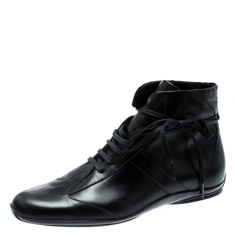 5768e0fb04 ... Gucci Black Leather Lace Up Ankle Boots Size 40.5. nextprev. prevnext
