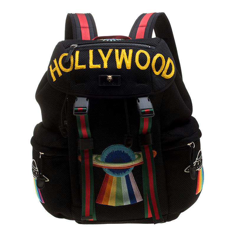 64581a60507b Buy Gucci Black Mesh Hollywood Backpack 142727 at best price | TLC