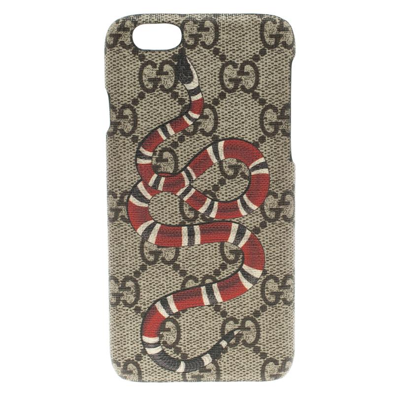 5b482ae7456 ... Gucci Beige GG Supreme Canvas Kingsnake Print iPhone 6 Case. nextprev.  prevnext
