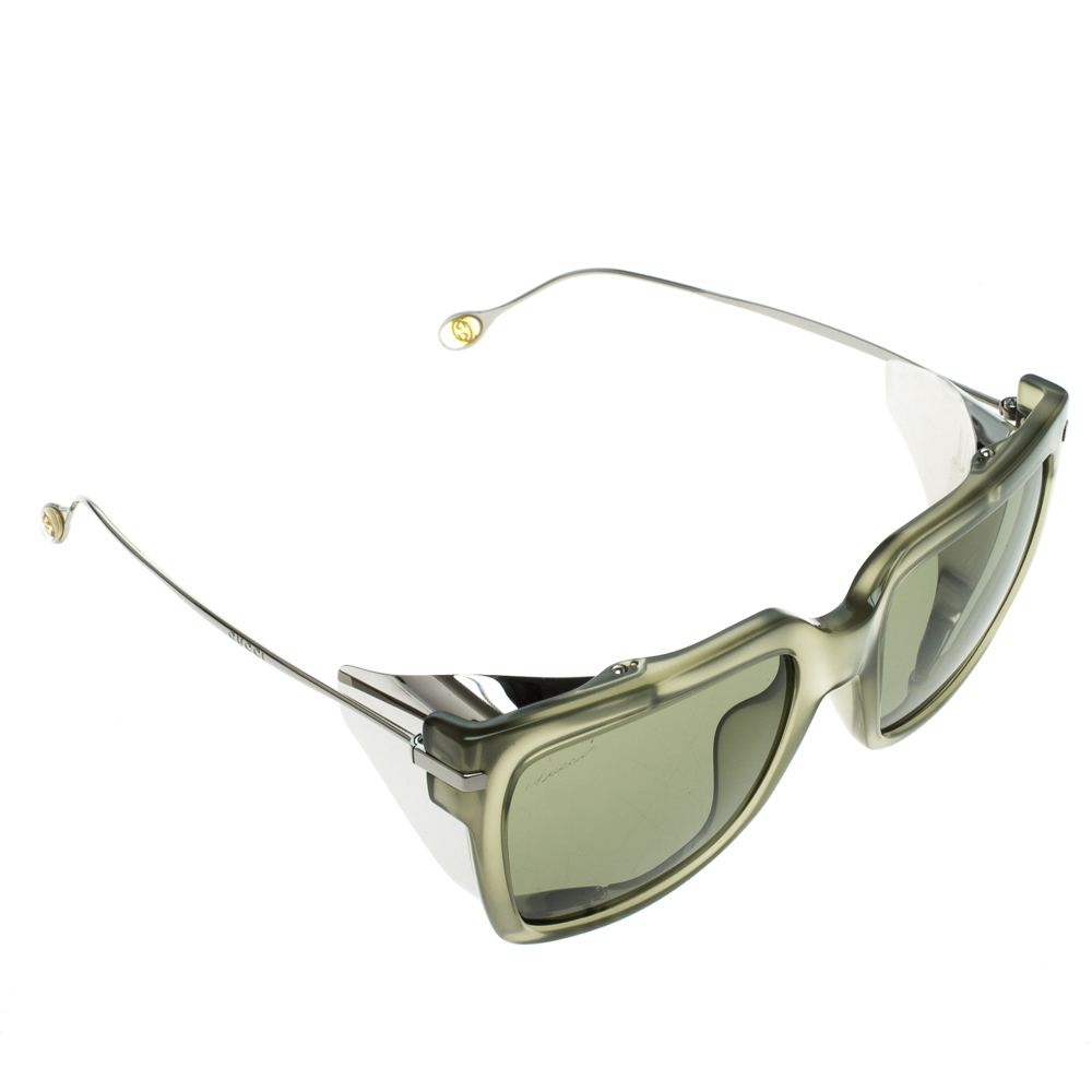 ac7a118e924 Buy Gucci Green GG 3738 Square Optyl Sunglasses 124594 at best price ...