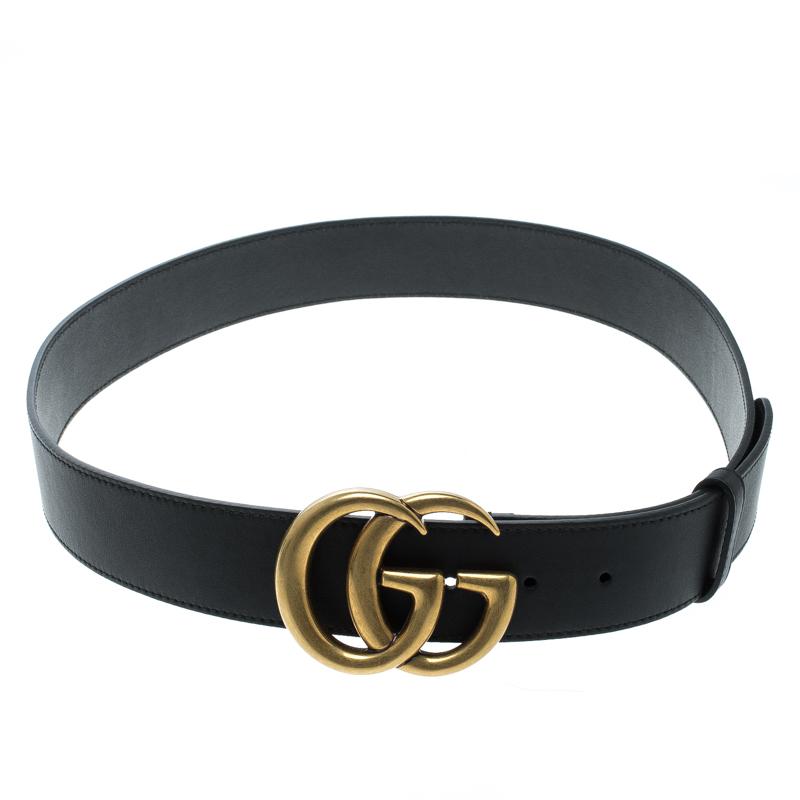 12380460cf1 ... Gucci Black Leather Double G Buckle Belt 95 cm. nextprev. prevnext