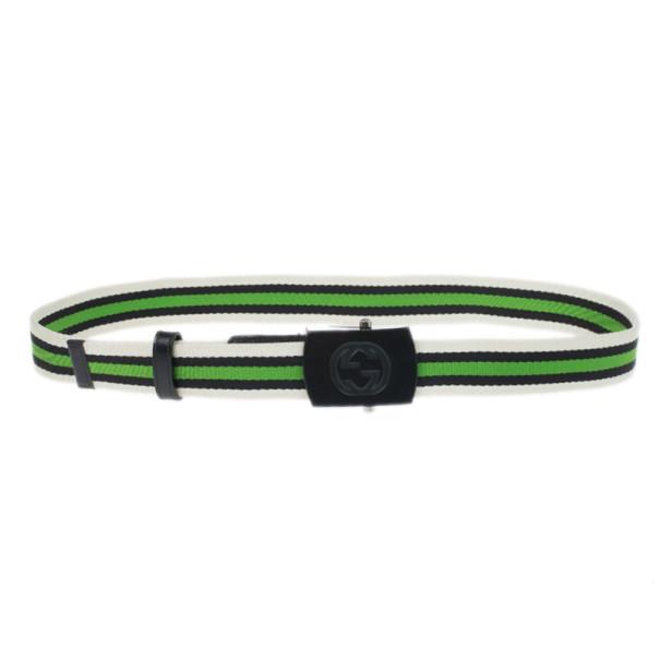 5c631bf22 Buy Gucci Web Detail Canvas Belt 95CM 14266 at best price | TLC