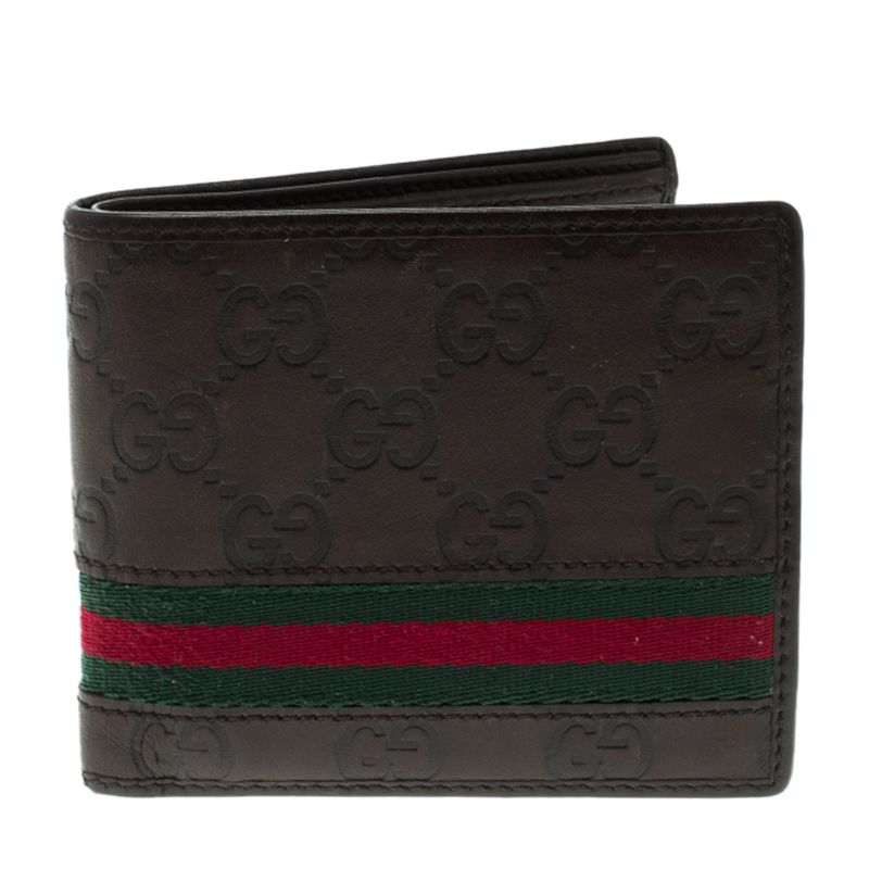 b3a5fd3dfdec ... Gucci Brown Guccissima Leather Web Bifold Wallet. nextprev. prevnext
