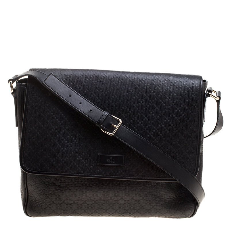 13036c725 ... Gucci Black Diamante Leather Hilary Messenger Bag. nextprev. prevnext