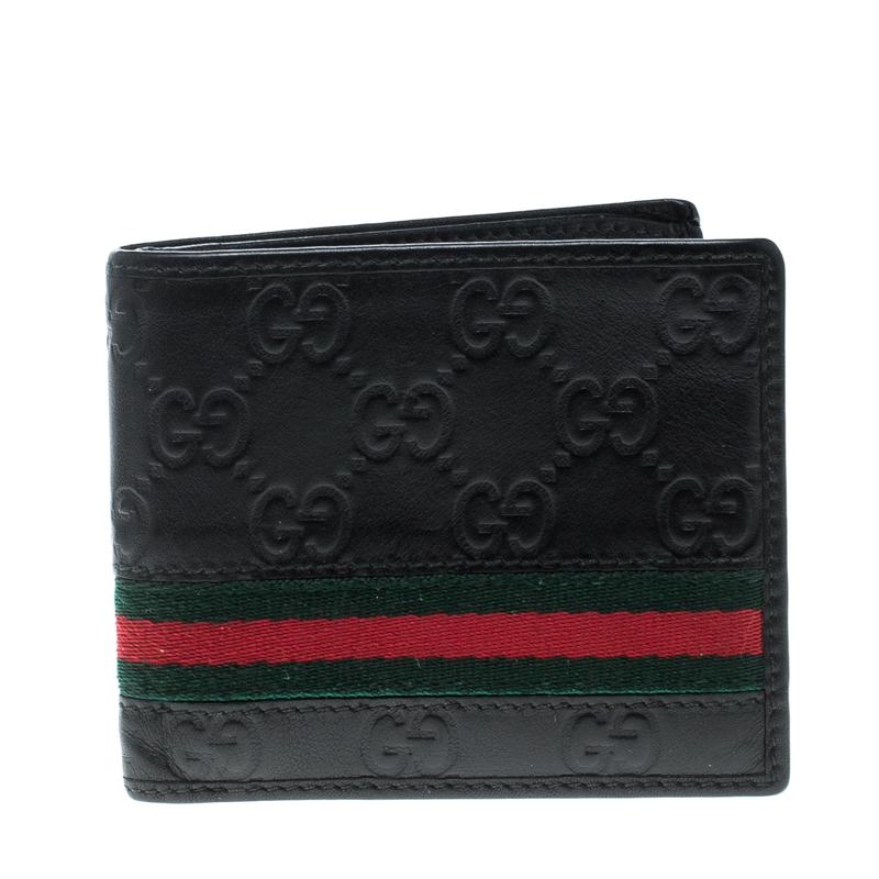 885741a07a16 ... Gucci Black Guccissima Leather Web Bifold Wallet. nextprev. prevnext
