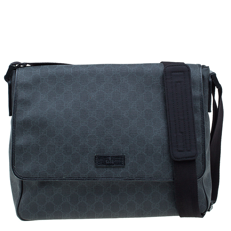 f87688fad89 Buy Gucci Black GG Coated Canvas Messenger Bag 58909 at best price