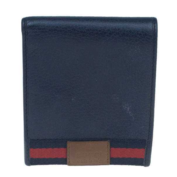 137cd18a960d Buy Gucci Blue Leather Bi-Fold Mens Wallet 6183 at best price | TLC