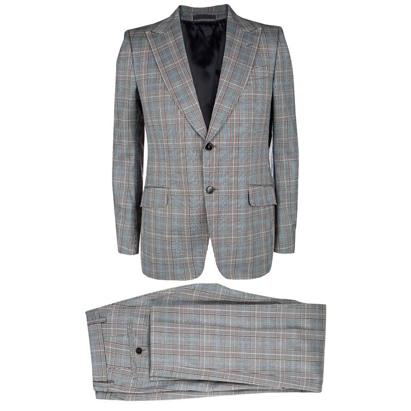 e95eff4b73 Buy Gucci Monochrome Glen Plaid Tailored Suit L 111331 at best price ...