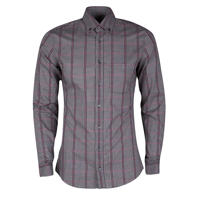 a001f8119 ... Gucci Multicolor Plaid Cotton Long Sleeve Button Down Shirt S.  nextprev. prevnext