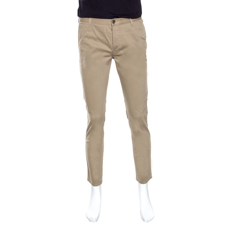 b0e668416ae Buy Gucci Sand Stretch Cotton Short Tapered Chino Trousers S 162605 ...