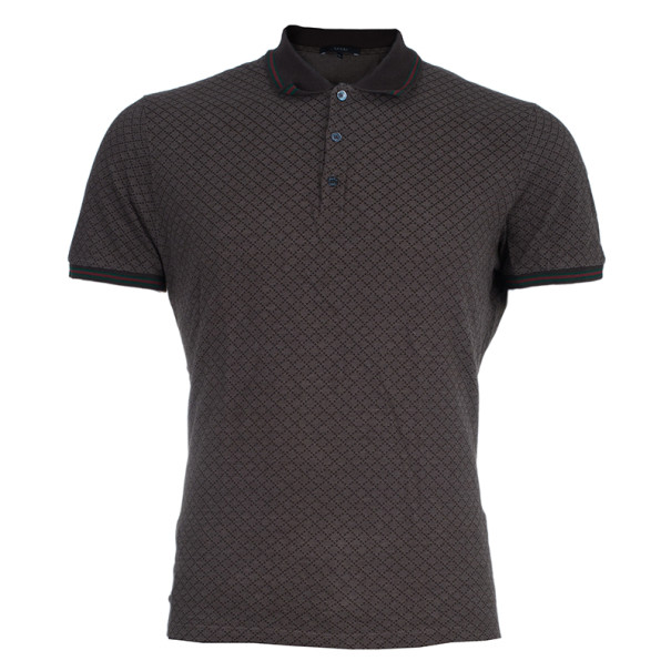 403dc84c Buy Gucci Men's Brown Cotton Pique Polo Shirt XL 4045 at best price ...