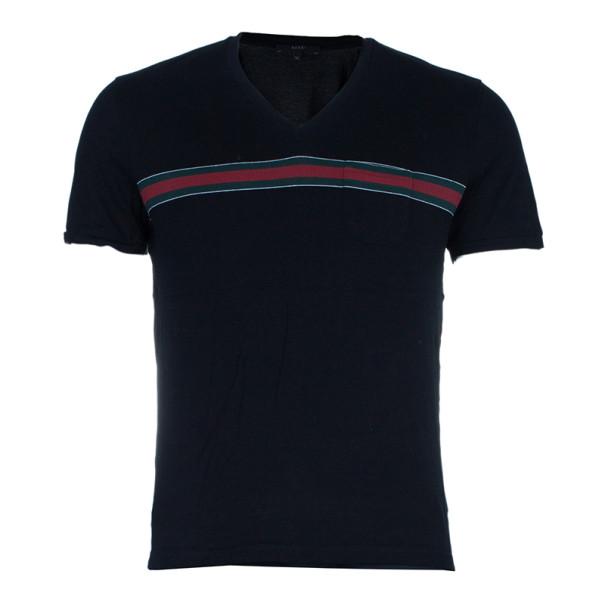 1db9e9f74 ... Gucci Men's Black Stripe Detail V-Neck T-Shirt XL. nextprev. prevnext