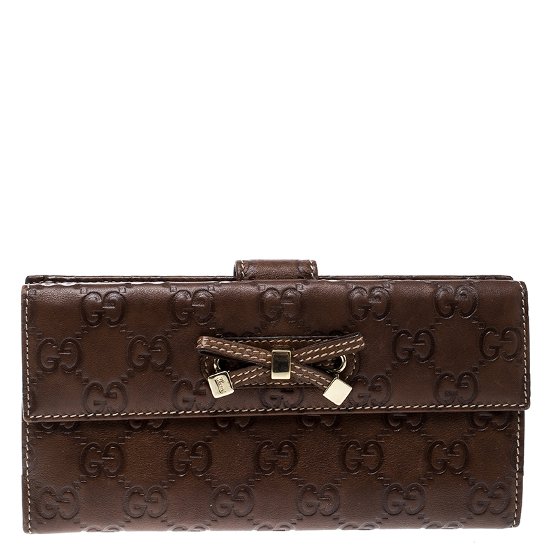 a40671ba7c6 ... Gucci Brown Guccissima Leather Princy Continental Wallet. nextprev.  prevnext