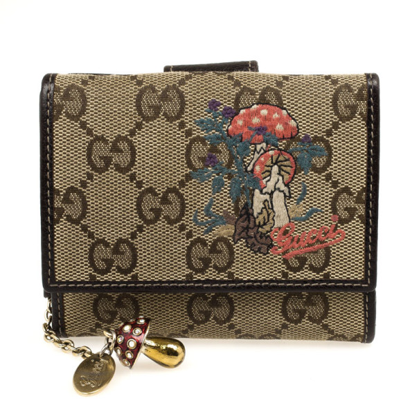 7b1517e69f1 Buy Gucci Limited Edition Monogram Mushroom Compact Wallet 32341 at best  price