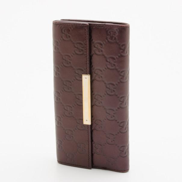 ef1912e65178 ... Gucci Burgundy Dice Guccissima Leather Chain Wallet. nextprev. prevnext
