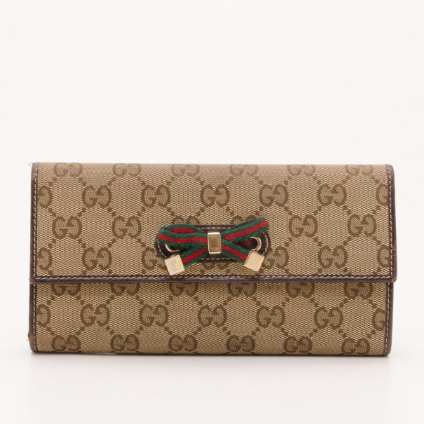67d60a0b8a5 ... Gucci Brown Monogram Princy Continental Wallet. nextprev. prevnext