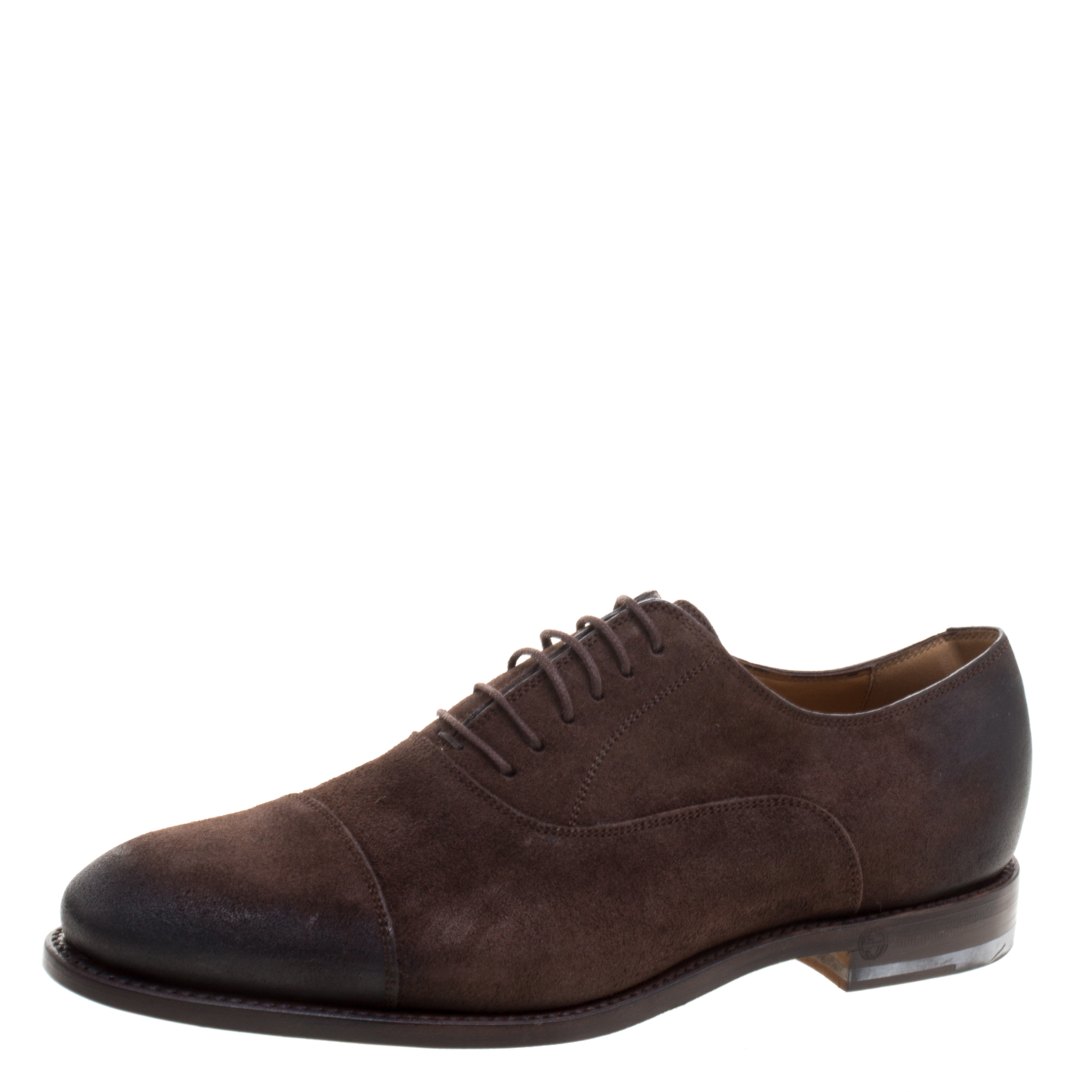 c290102e76c Buy Gucci Brown Suede Lace Up Oxfords Size 42 110969 at best price