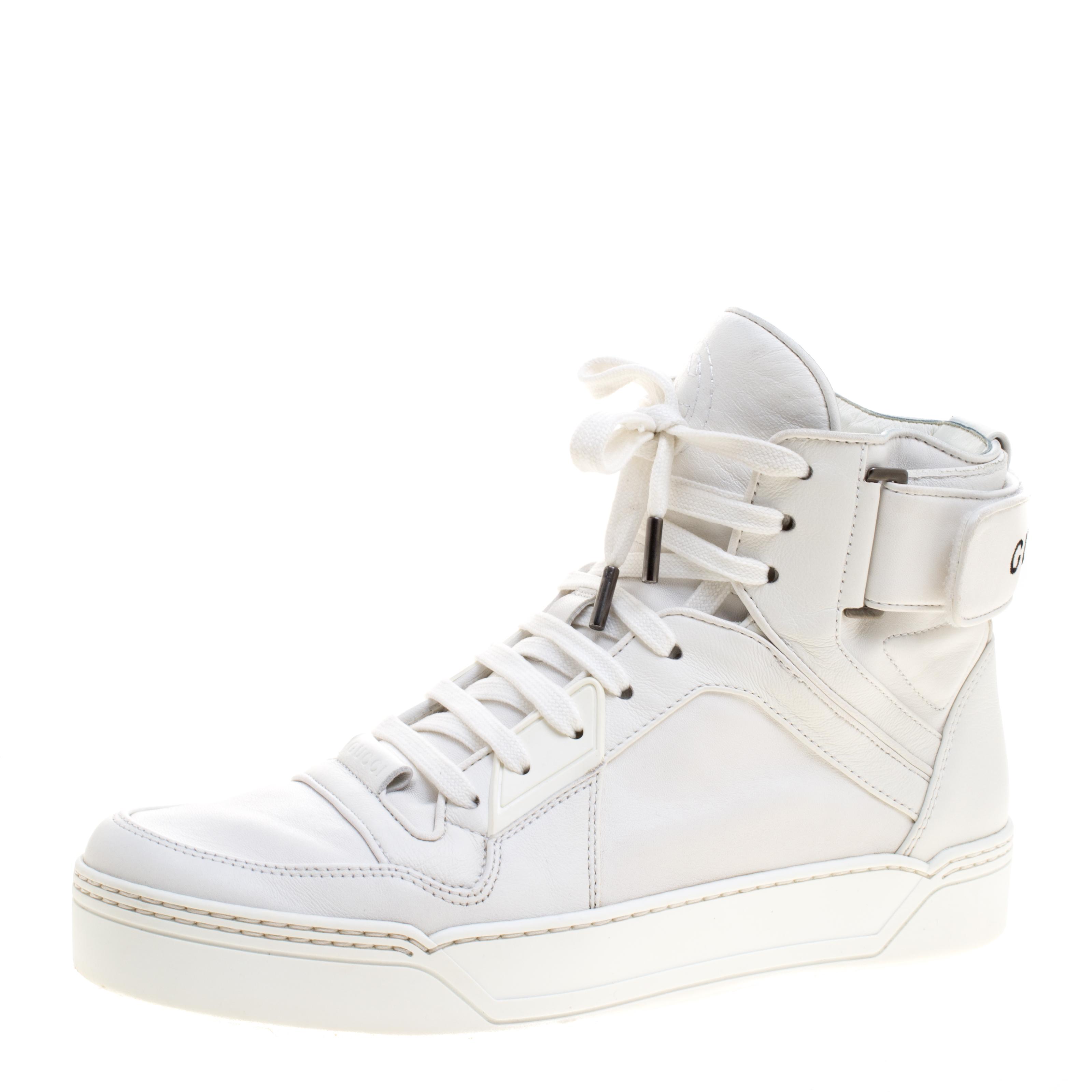 880226e5fa015 ... Gucci White Leather New Basketball High Top Sneakers Size 41.5.  nextprev. prevnext
