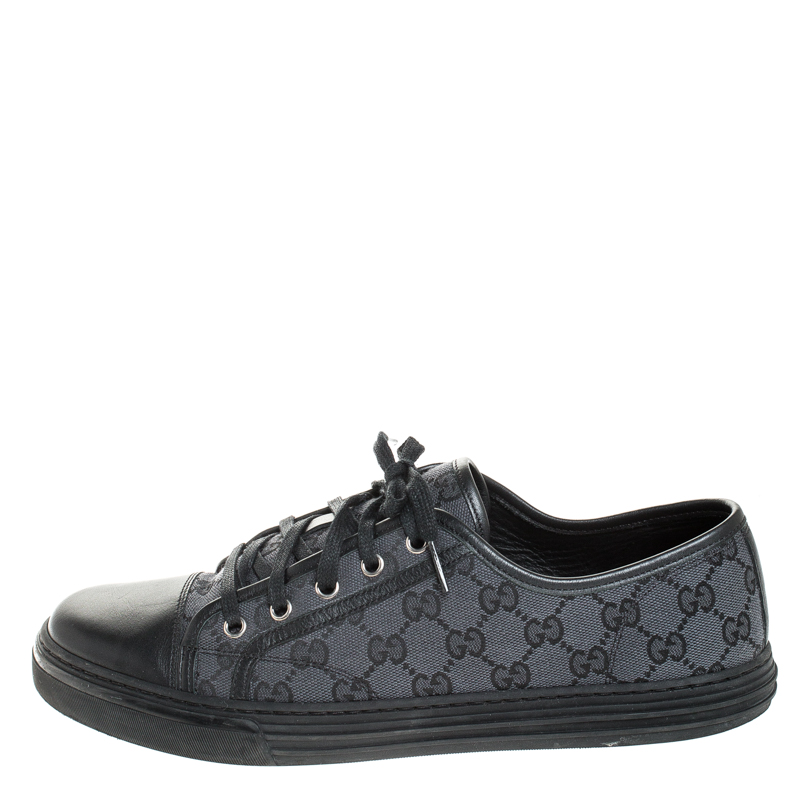 Gucci Black/Navy Blue Leather And GG