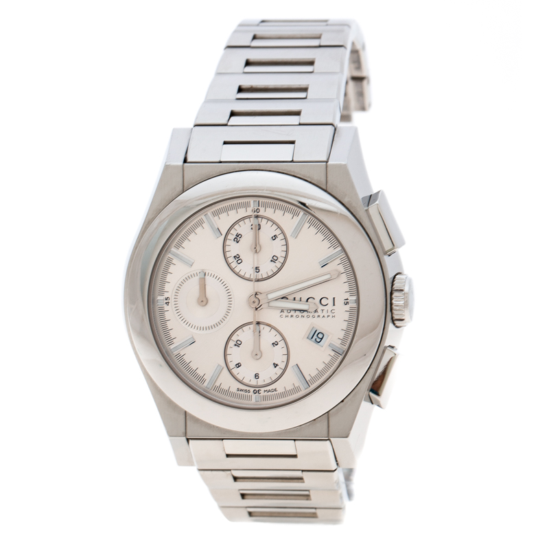 77ded466c72 Buy Gucci Silver Stainless Steel Chronograph 115.2 Men s Wristwatch ...