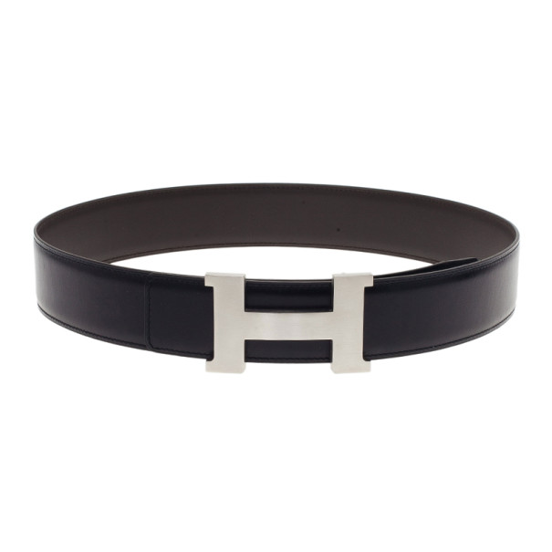 00962a32811 Buy Hermes Black Leather H Buckle Belt 80CM 1486 at best price