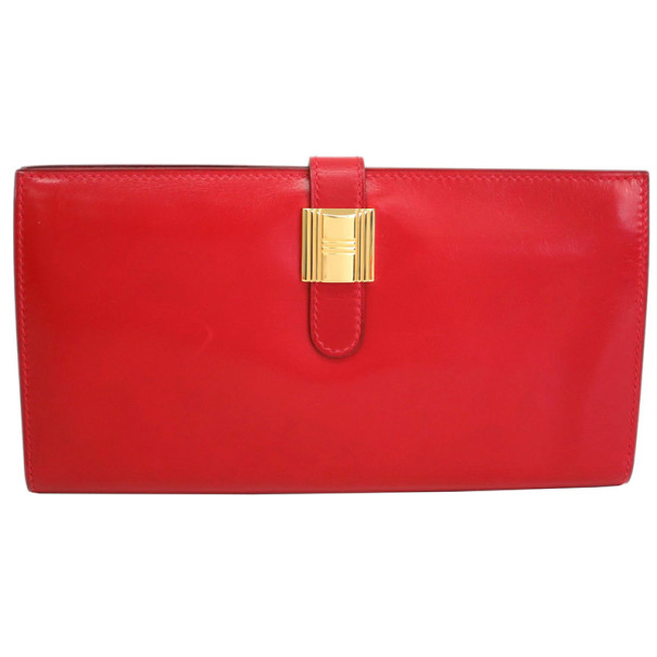 f232a3906450 ... Hermes Red Box Calf Leather Herakles Long Wallet. nextprev. prevnext