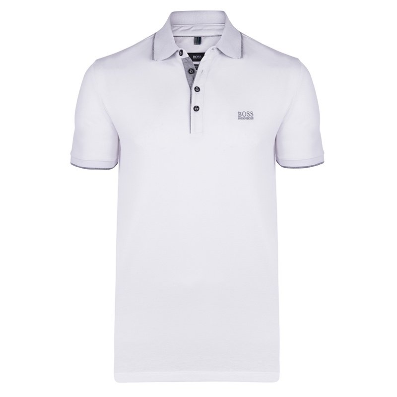 1a757055baf Buy Boss by Hugo Boss White Cotton Logo Short Sleeve Polo Shirt S 79231 at  best price