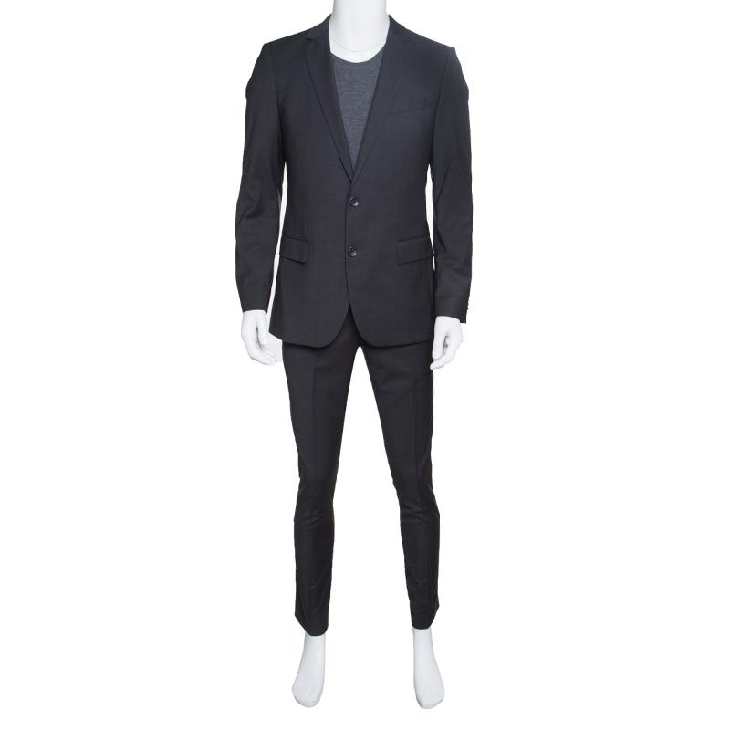 521a79fe Buy Boss by Hugo Boss Grey Wool Amaro/Heise Suit M 151796 at best ...