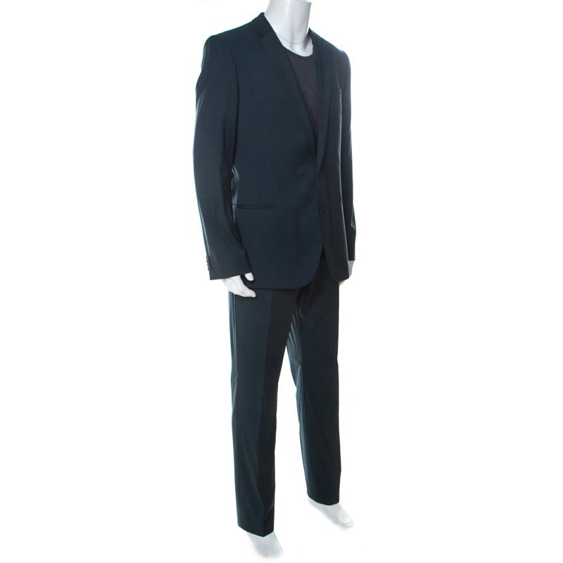 green hugo boss suit