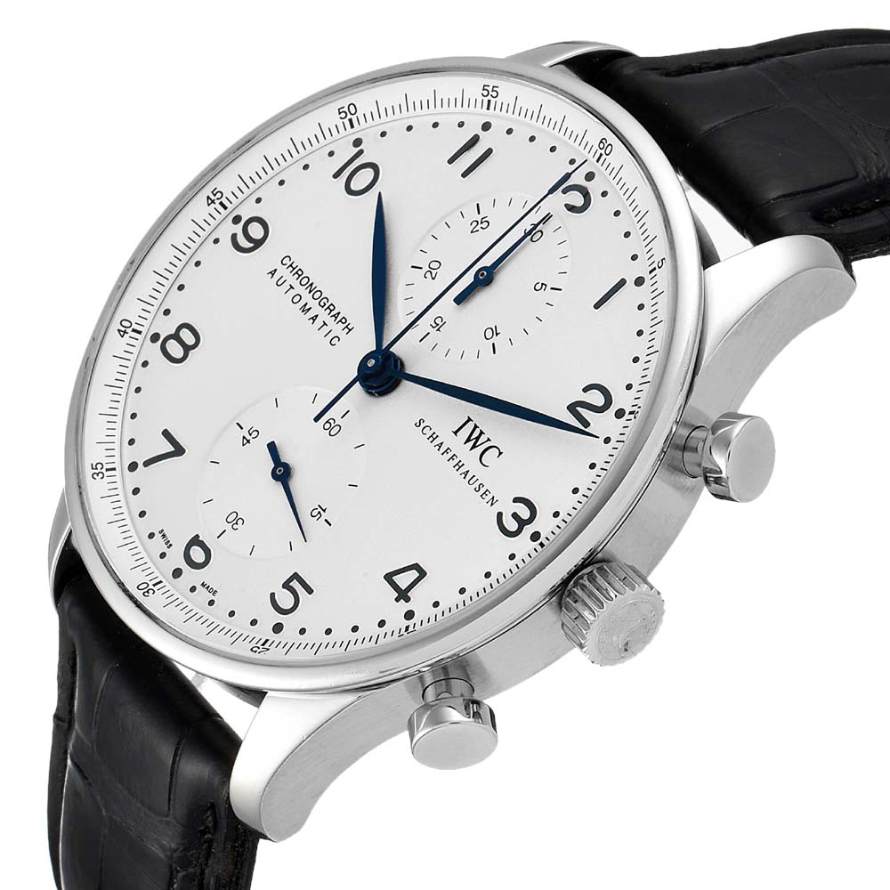 IWC Silver Stainless Steel Portuguese Chrono IW371446 Men's Wristwatch 41 MM  - buy with discount