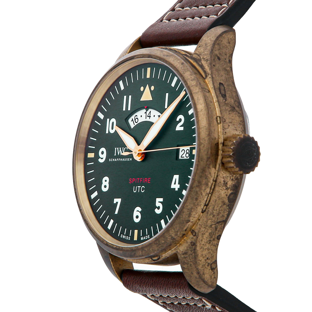 IWC Green Bronze Pilot UTC Spitfire Edition MJ271 IW3271-01 Men's Wristwatch 41 MM  - buy with discount