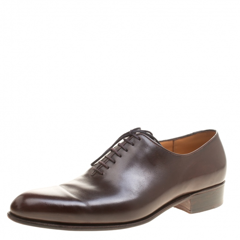 J.M.Weston Brown Leather Lace Up Oxfords Size 43